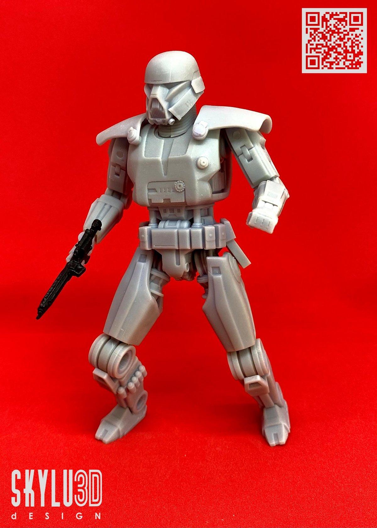 Image of Dark Robot model kit by Skylu3D Design