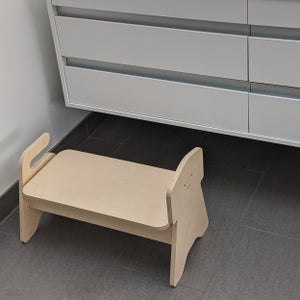 Image of Modern Dog Step Stool for Two Kids