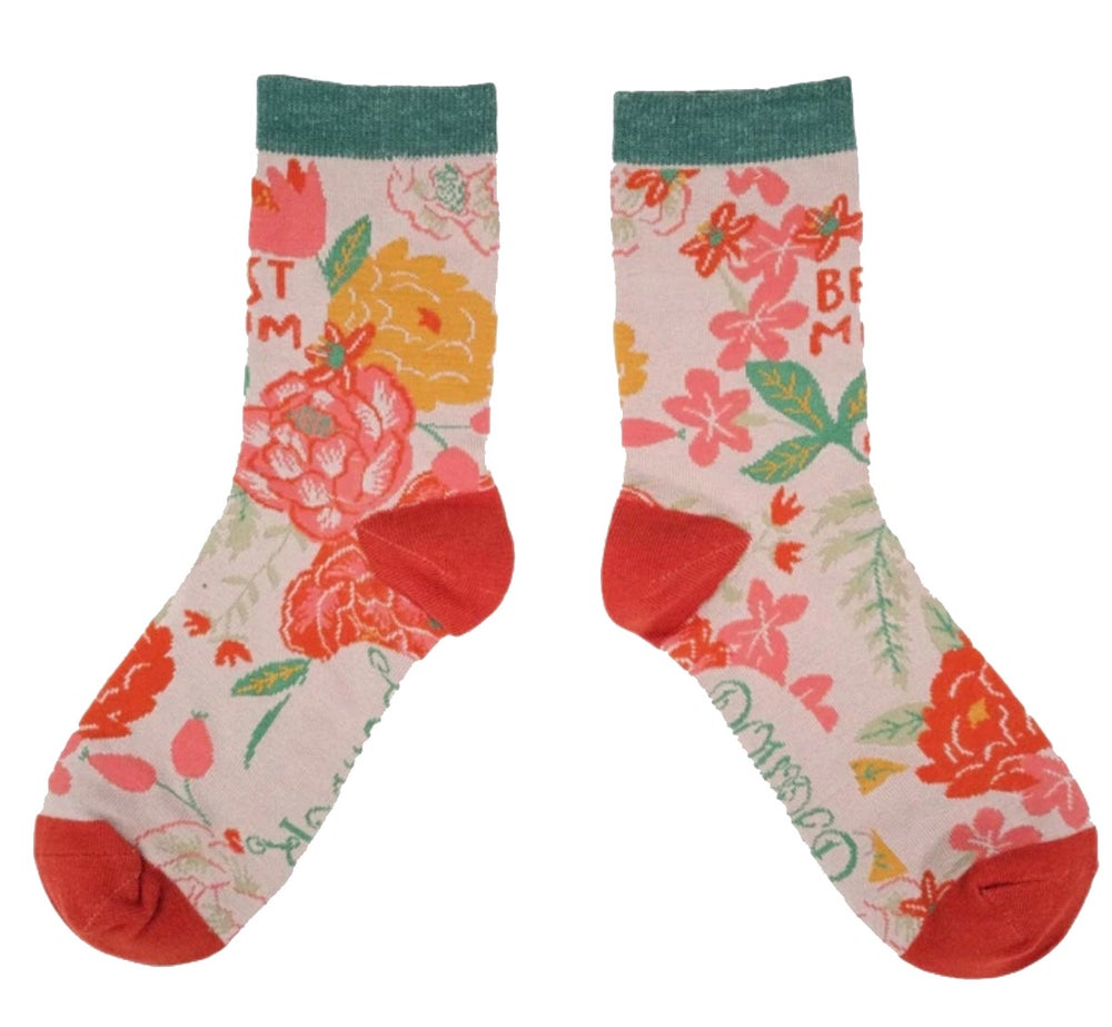 Image of Powder Floral Best Mum Socks