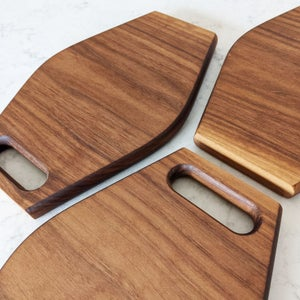 Image of Walnut Cutting & Serving Boards | Set of Three