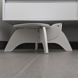 Image of Turtle Step Stool - Recycled White HDPE