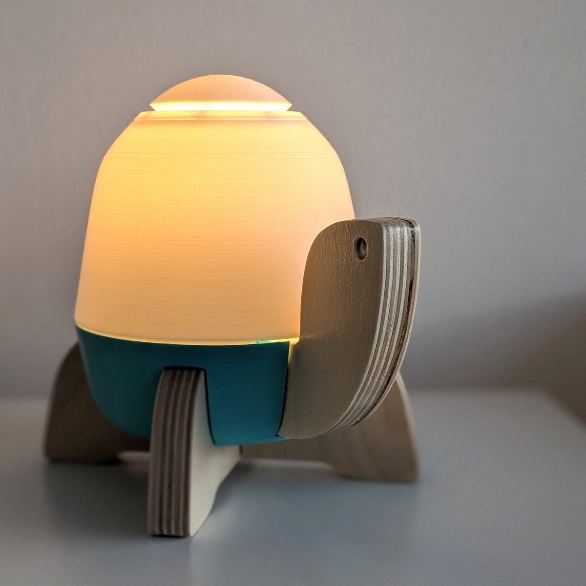 Image of Modern Kid's Turtle Lamp | Teal