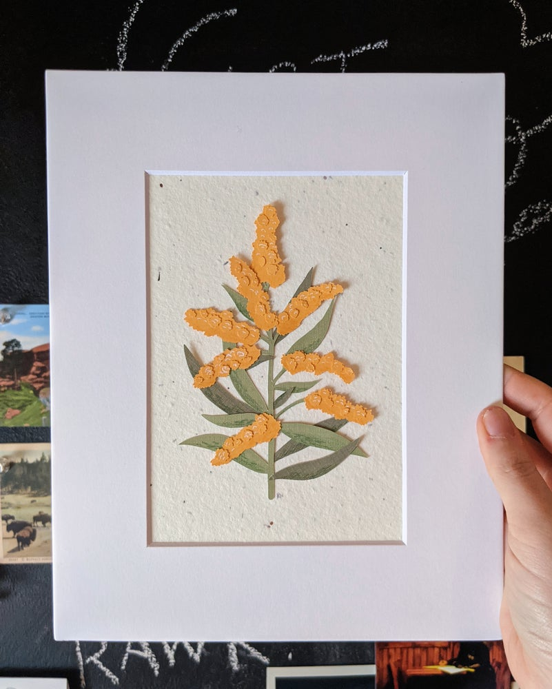 Image of Cut Paper Goldenrod