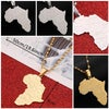 Stainless Steel Map of Africa Necklace