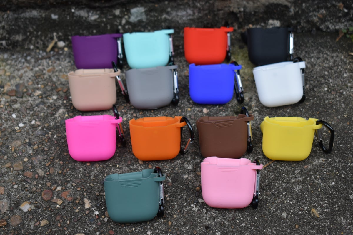 Image of AirPods Gen 1/2 Silicone Cases With Clip/Hanger