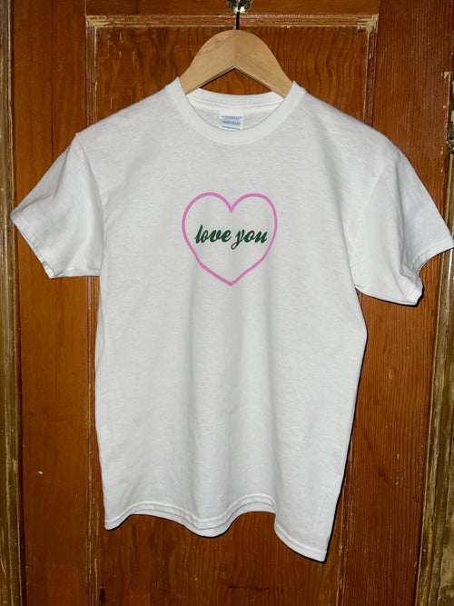 Image of New Pink Heart Love You Tee SOLD OUT