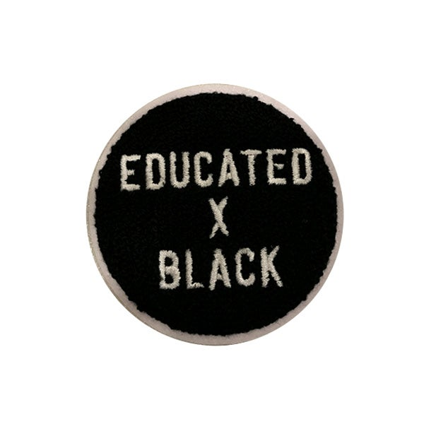 Image of Educated x Black Chenille Patch