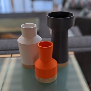 Image of Modern Vase Set | Orange
