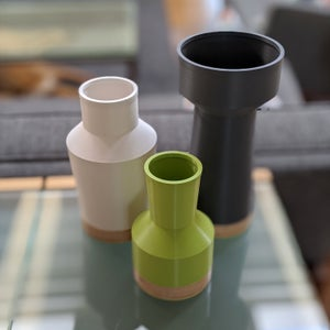 Image of Modern Vase Set | Green