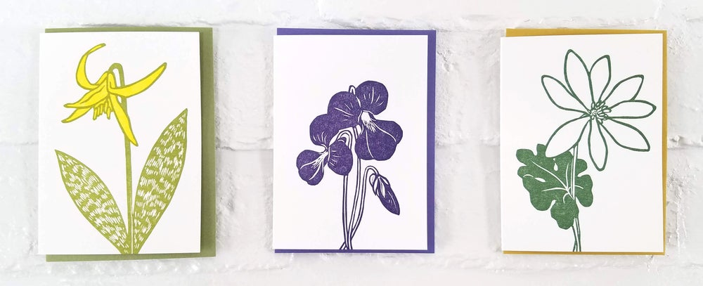 Image of Spring Ephemerals Notecard Sets