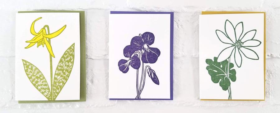 Image of Spring Ephemerals Notecard Sets