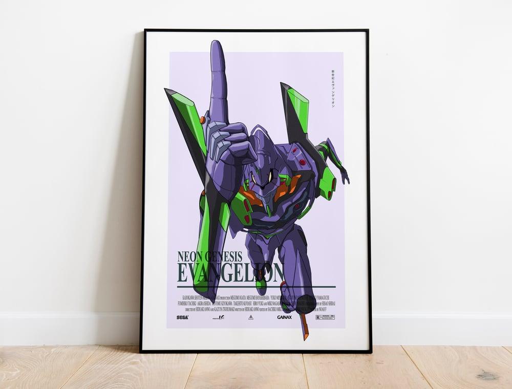 Unit 01 - Neon Genesis Evangelion, Cyberpunk Anime Poster