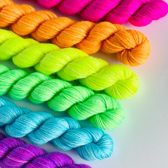 Image of Nube Fingering Neon Mini Skein Set