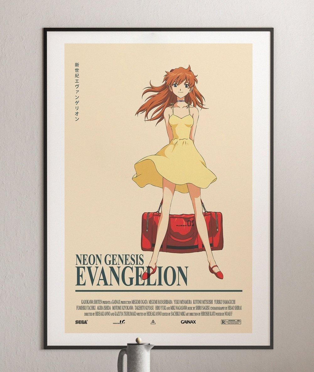 Asuka Langley Sohryu - Neon Genesis Evangelion, Anime Poster