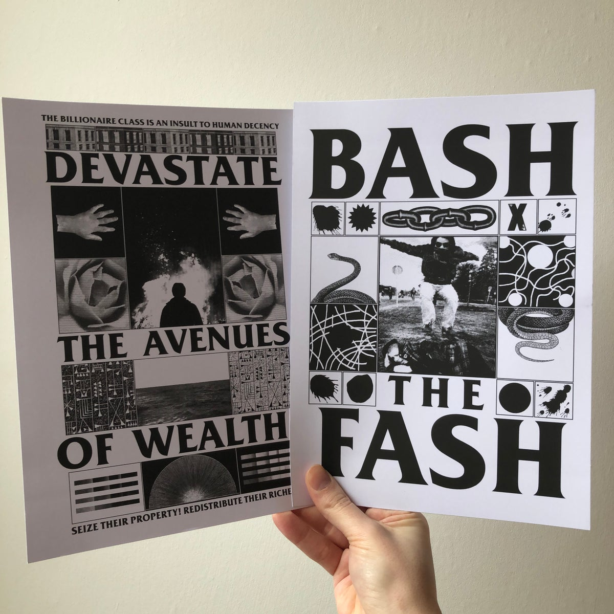 Image of Bash the Fash set of 5 prints