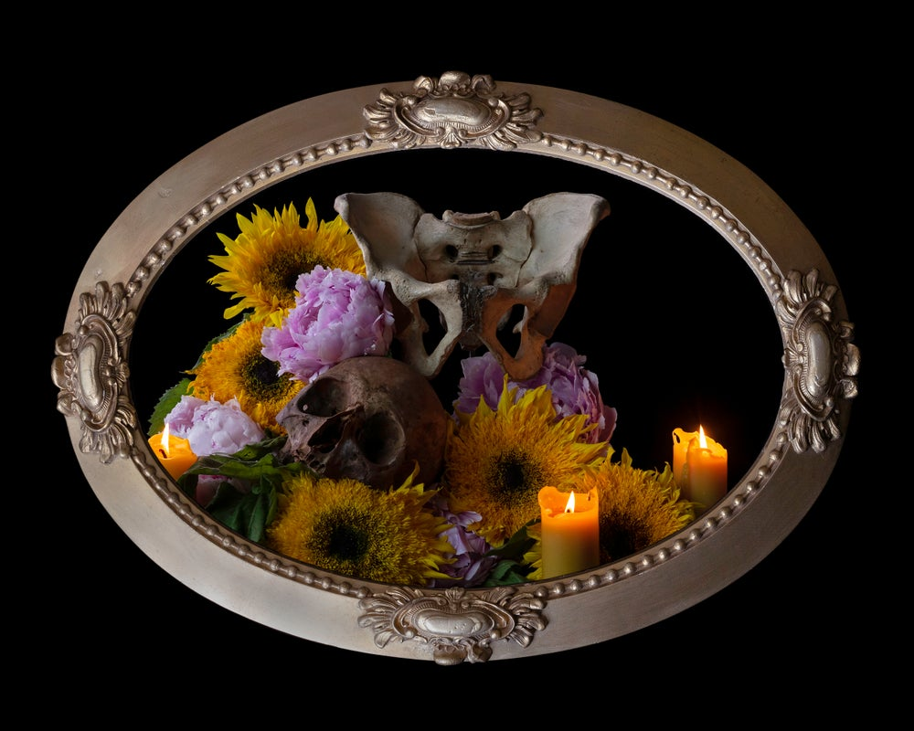 Image of 'Orior' in Victorian Bubble Glass Frame