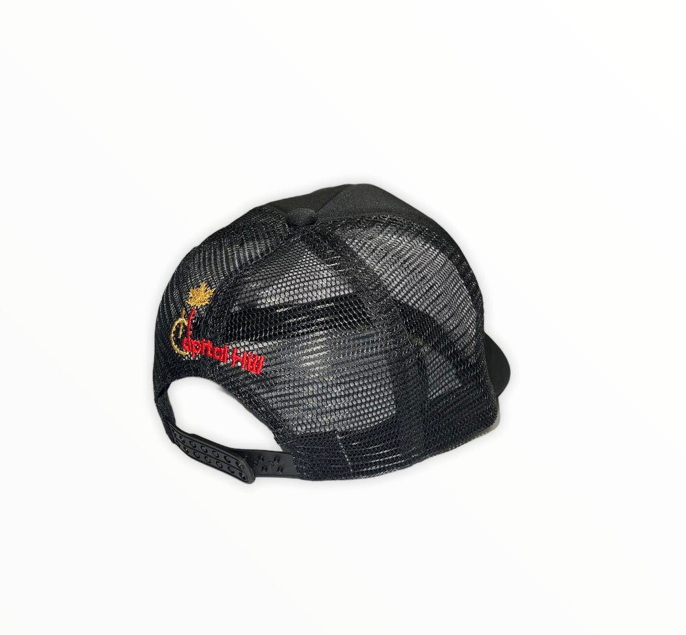 Image of Capital Hill Black Trucker Mesh Hat