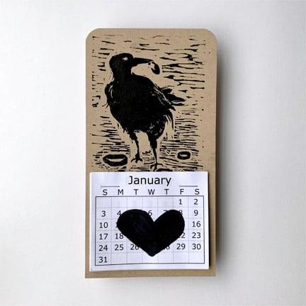 Image of 2021 Calendar bird print - 1.5in X 6.5in
