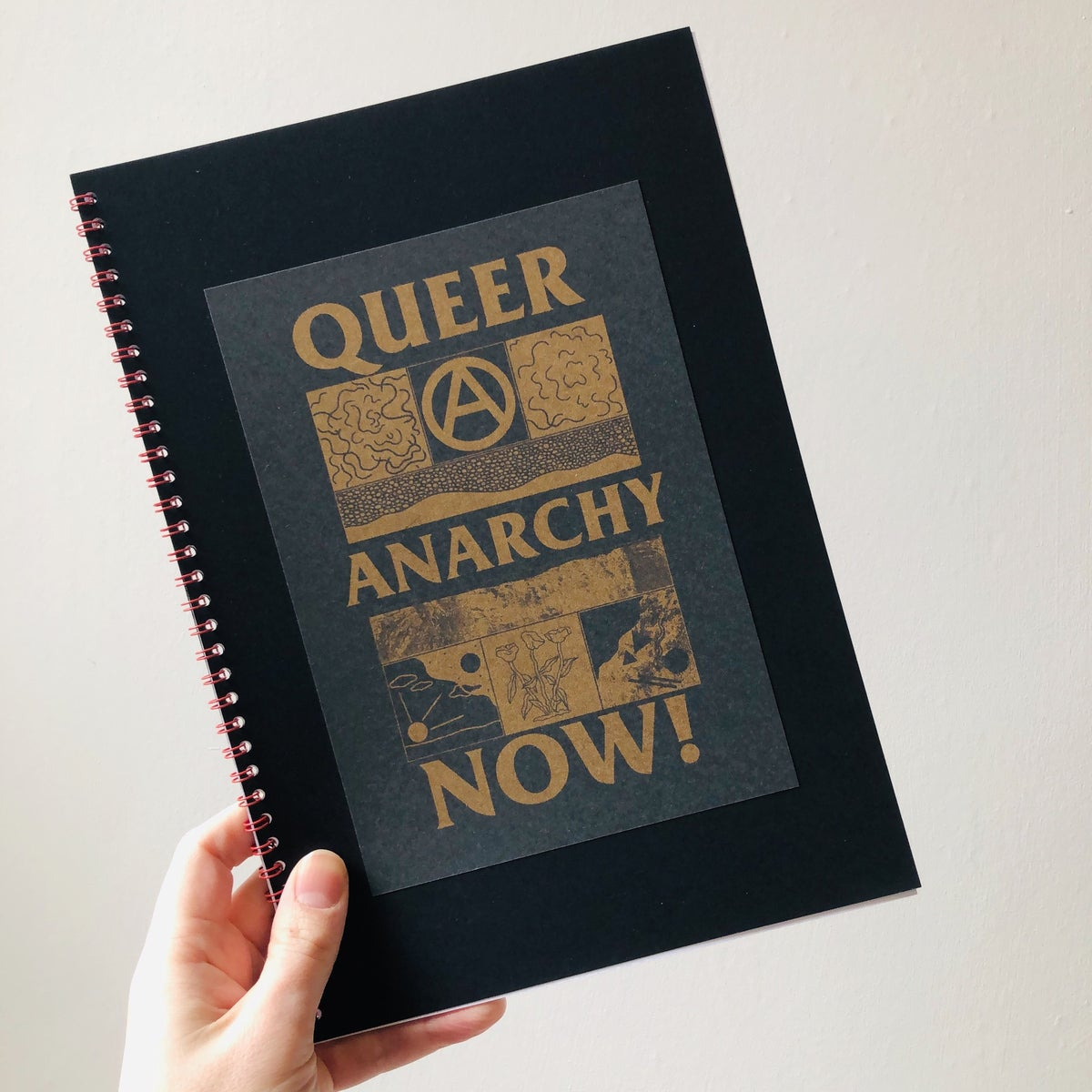 Image of Queer Anarchy Now poster collection hardback zine