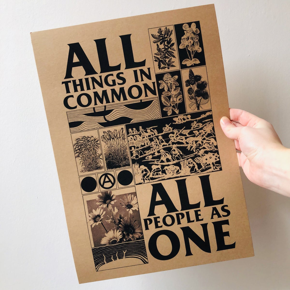 Image of All Things in Common, All People One digital A3 print