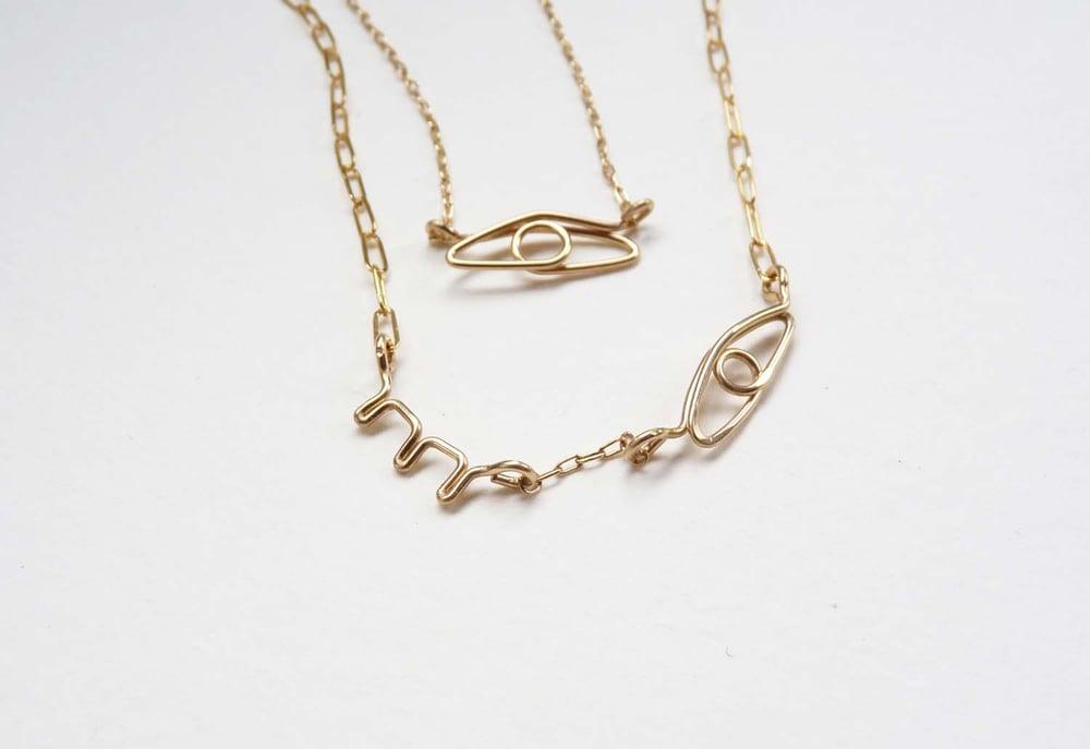 Image of Winky eye necklace