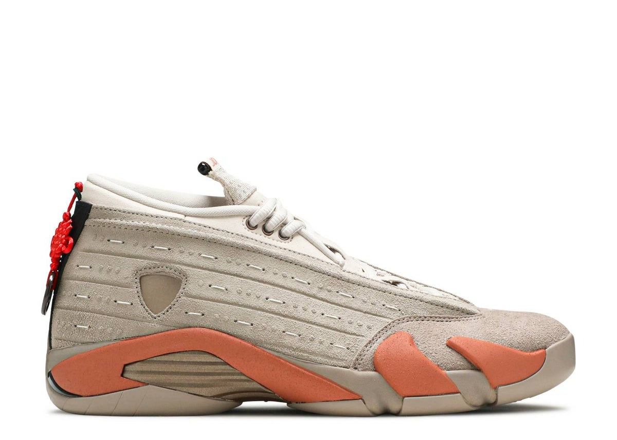 Image of CLOT X AIR JORDAN 14 RETRO LOW 'TERRACOTTA'