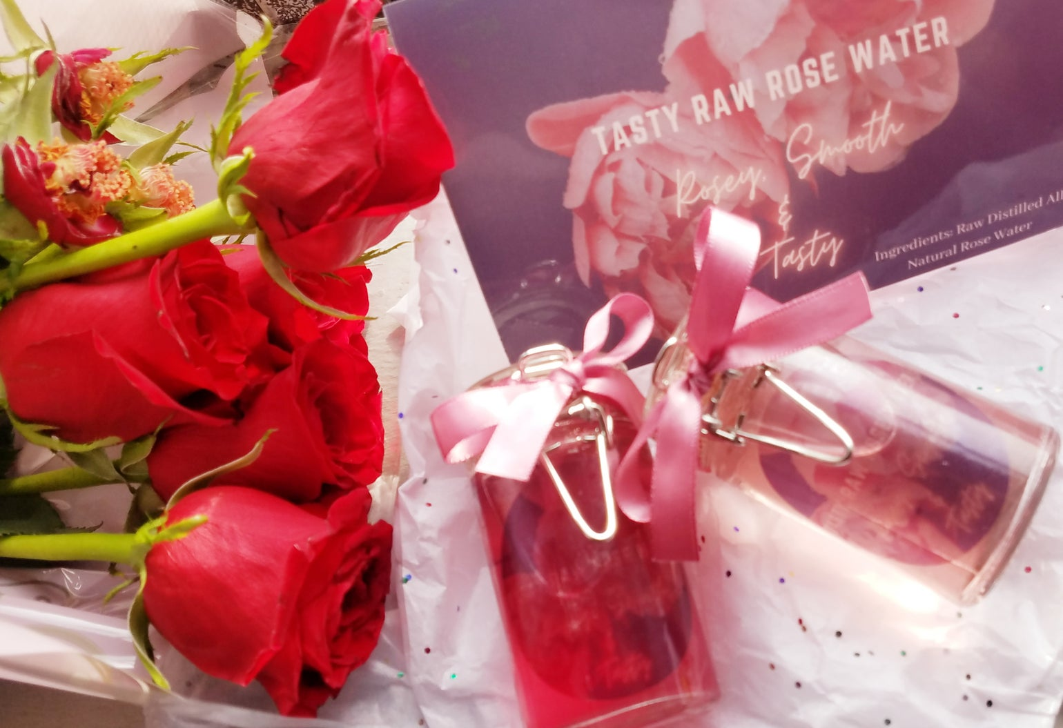 Image of Tasty Raw Rose Water