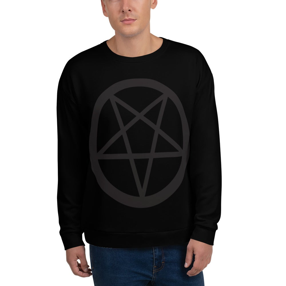 AshemaDeva Pentagram All-Over Print Unisex Sweatshirt