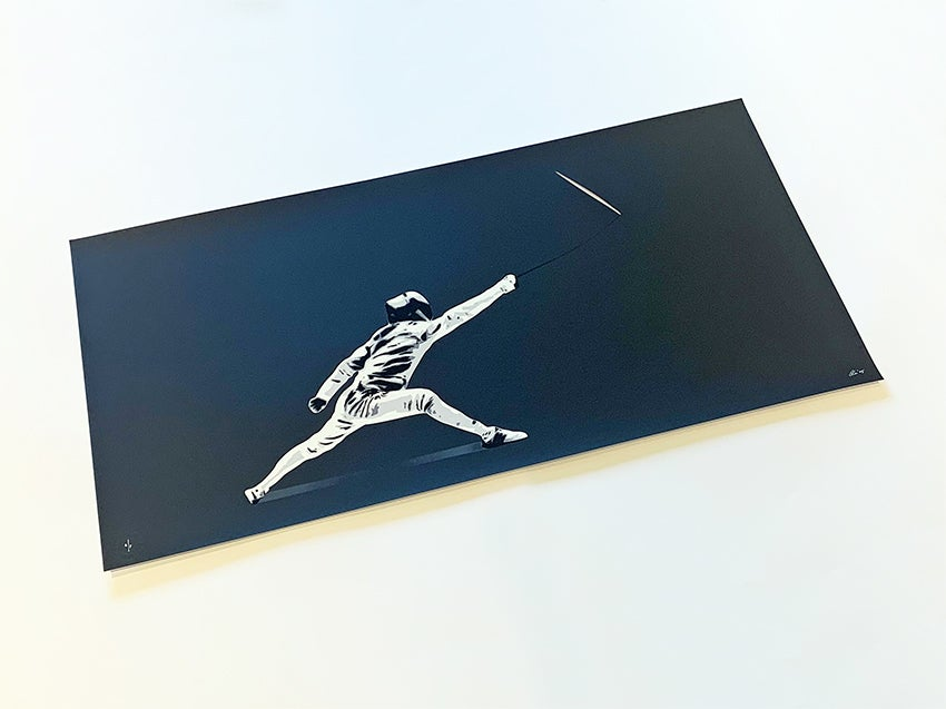 """Image of """"Fighting The Blank Paper"""" Black Edition Screen Print AP (Artist Proof)"""
