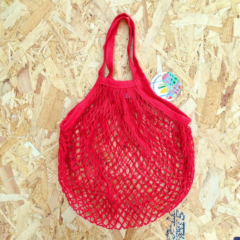 Image of Red Net Shopping Bag