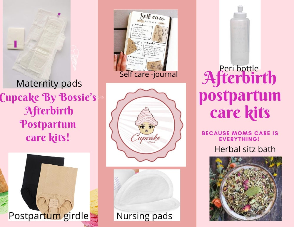 Image of Cupcake By Bossie's Afterbirth/ postpartum care kits