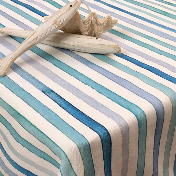 Image of Nappe Ondes Bleue  3 tailles