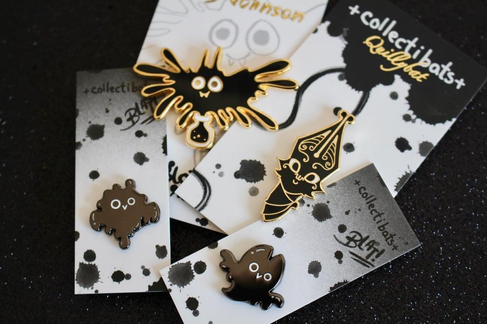 Collectibats x Kelly Johnson Inky Bundle - All Four Pins!