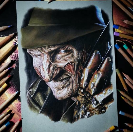 Image of PRESALE Freddy Krueger print A3 (limited)