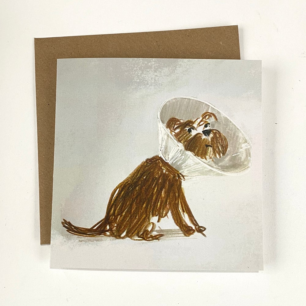 Image of 'Cone of Shame' luxury greetings card