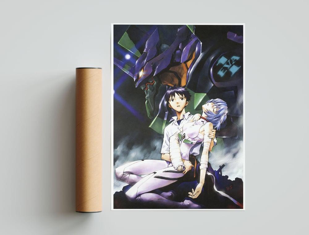 Shinji & Rei - Neon Genesis Evangelion, Mecha Anime Poster