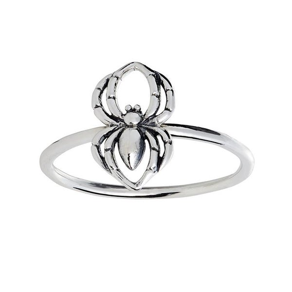 Image of Black Widow Spider ring (sterling silver)