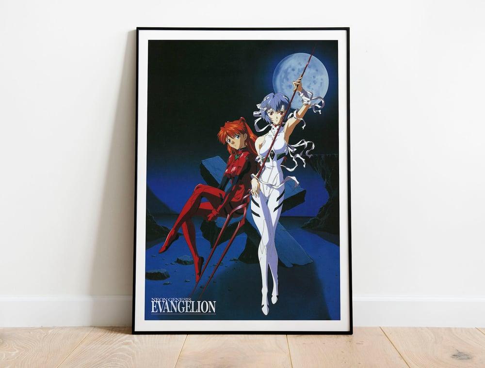 Asuka & Rei - Neon Genesis Evangelion, Mecha Anime Poster