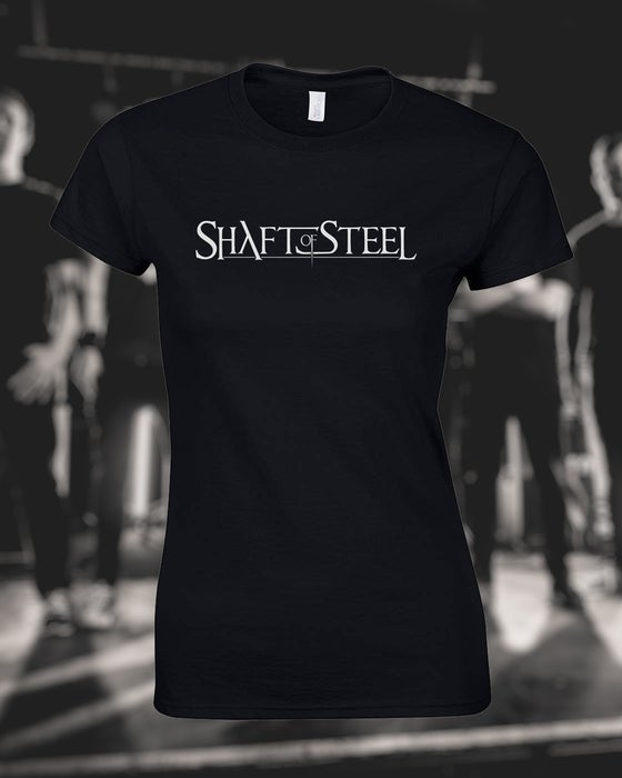 Image of Shaft of Steel Logo Women's T-Shirt - Black