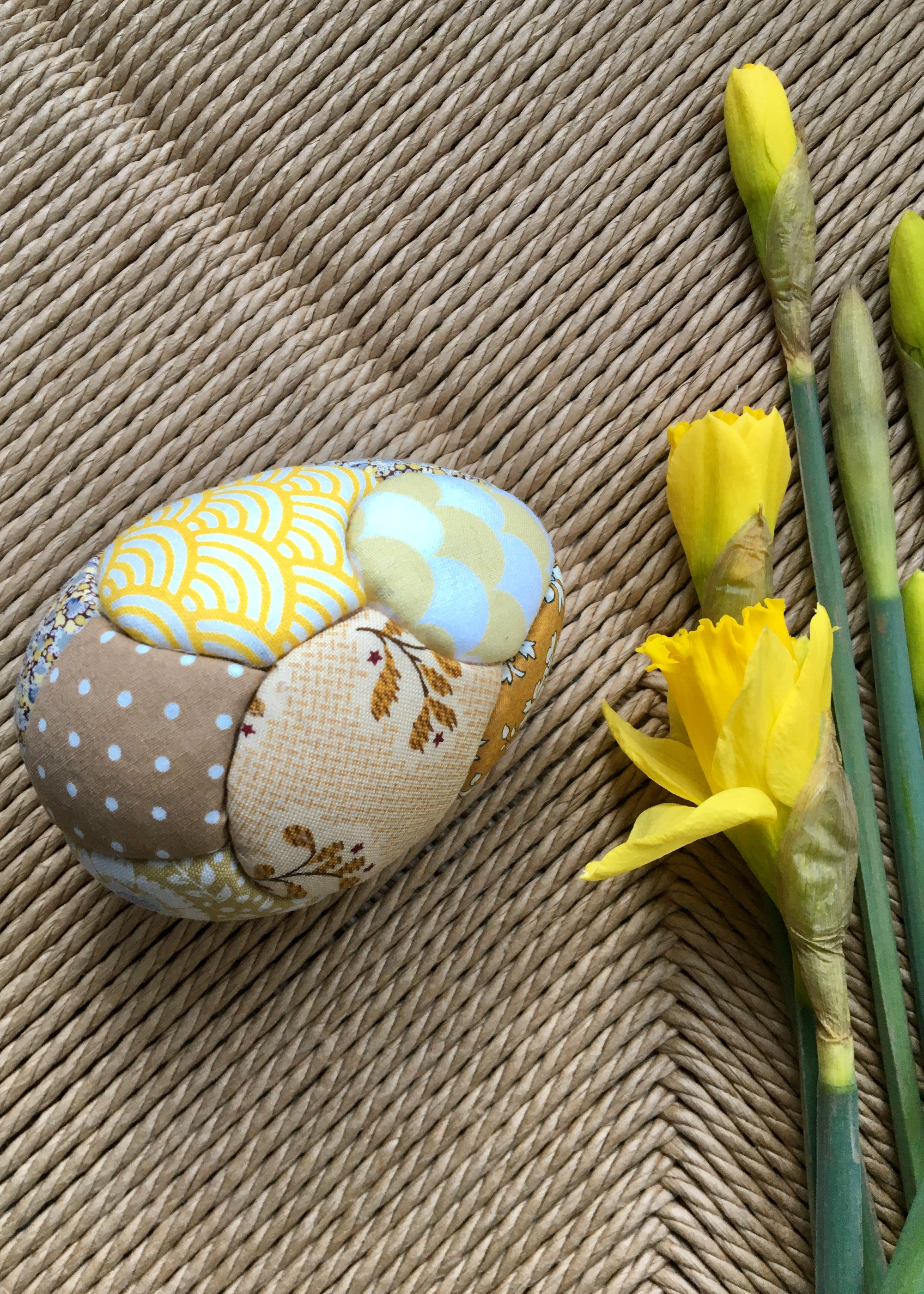 Image of Easter Egg Yellow/Mustard (patchwork)