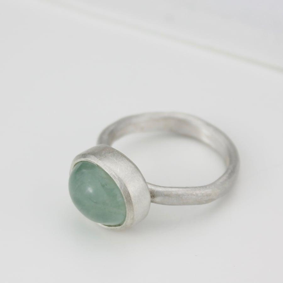 Image of Oval aquamarine ring