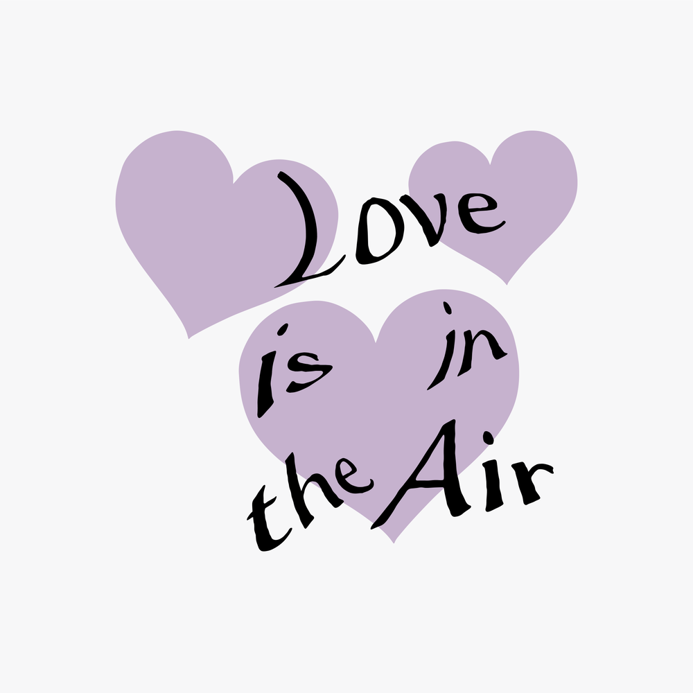 Image of LOVE IS IN THE AIR CROP TANK