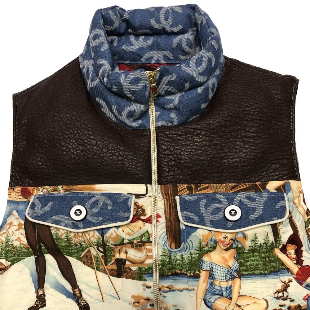 Chanel Winter Pin Up Women Bubble Vest Unisex
