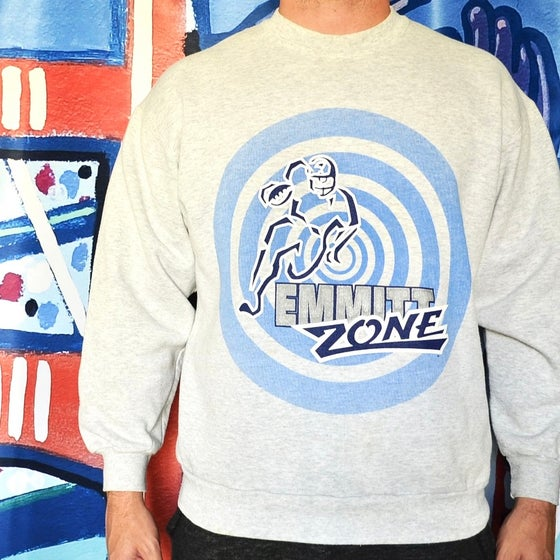 "Image of Vintage 1990's Dallas Cowboys ""Emmitt Zone"" Starter Crewneck Sz.L"