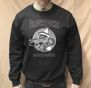 Image of CREWNECK BLACK  SWEATER CIRCLE SLOWPOKE