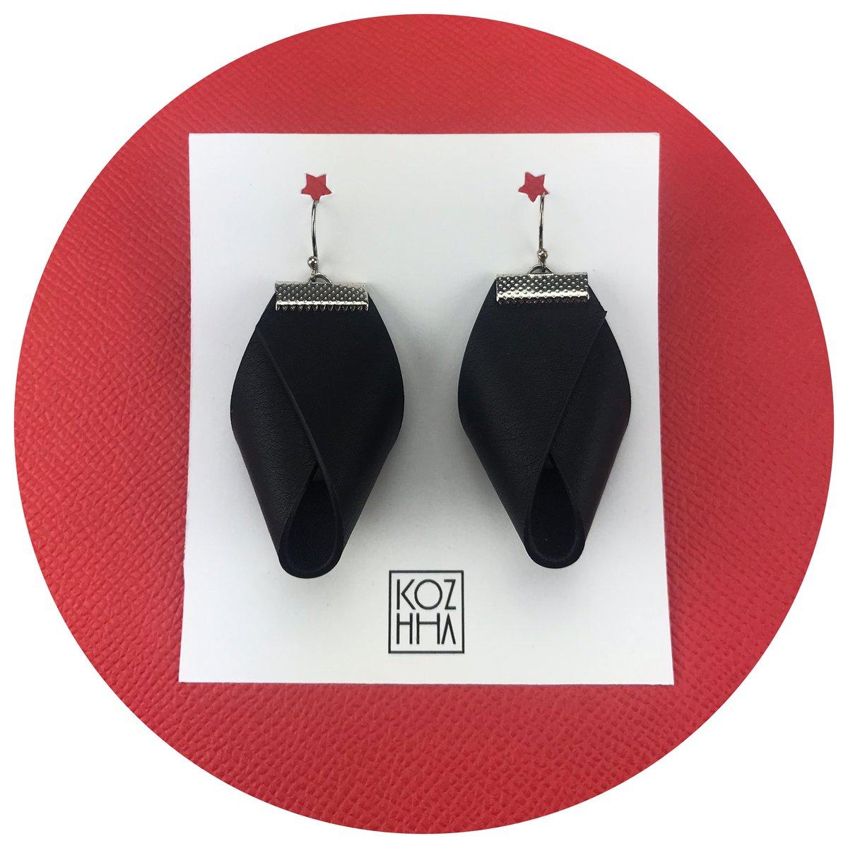 Boucles d'oreilles Noir