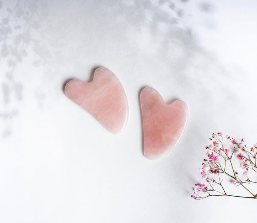 Image of Rose Quartz Gua Sha Facial Tool