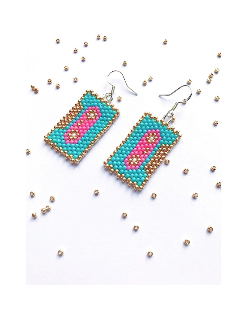 Image of Retro Casette Tape Earrings