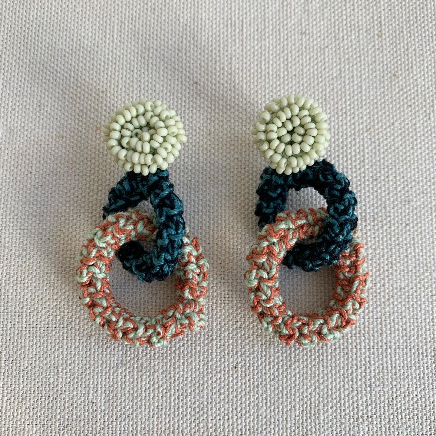 Image of Pistachio Double Bonded Together earrings