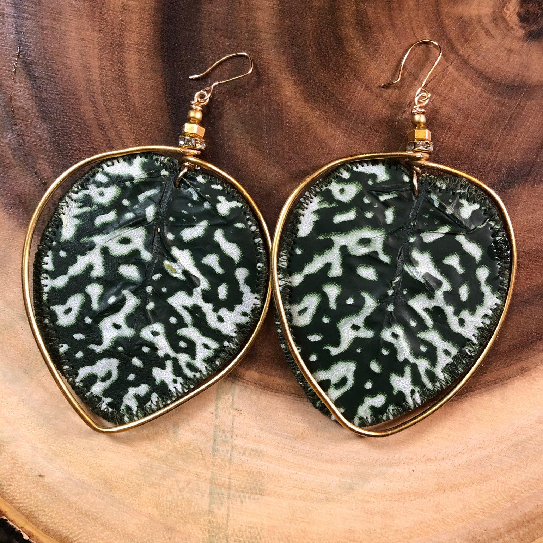 Image of Large Polka Dot plant Earrings